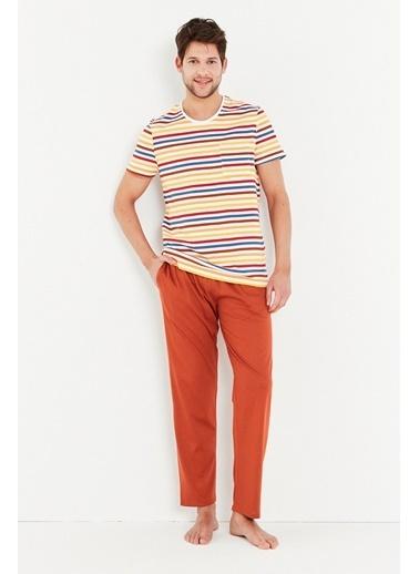 Penti Erkek Çok Renkli Colorful Pijama Takım PHLIOJSJ21IY Renkli